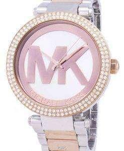 마이클 Kors 파커 다이아몬드 악센트 석 영 MK6314 여자의 시계