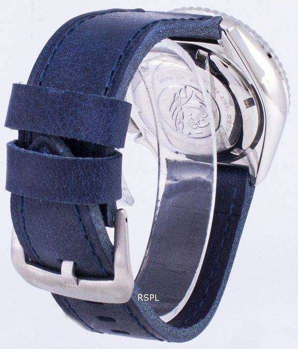 SKX007J1-LS13 세이 코 자동 다이 버의 남자 200m 일본 블루 가죽 스트랩 남자의 시계를 만든