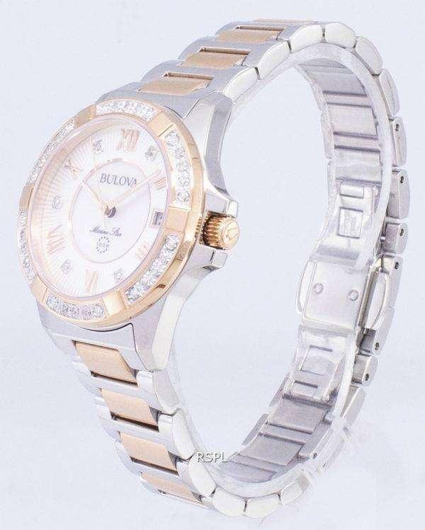 뻐꾸기 마린 스타 98R234 다이아몬드 악센트 석 영 여자 시계