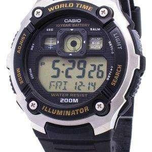 카시오 청소년 AE-2000W-9AV 조명 디지털 남자의 시계