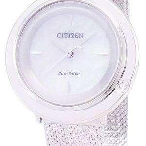 시민 L 에코-드라이브 EM0640 82D 아날로그 다이아몬드 악센트 여자의 시계