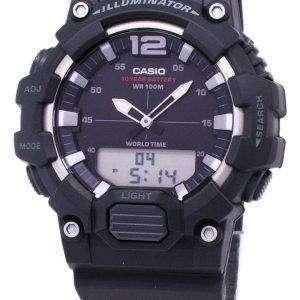 카시오 청소년 HDC-700-1AV 조명 아날로그 디지털 석 영 남자의 시계