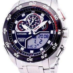 시민 Promaster 에코-드라이브 JW0124-53E 크로 노 그래프 200m 남자 시계