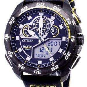시민 Promaster 에코-드라이브 JW0125-00E 크로 노 그래프 200m 남자 시계