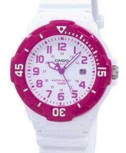 카시오 아날로그 핫 핑크 화이트 다이얼 LRW-200 H-4BVDF LRW-200 H-4BV 여성 시계