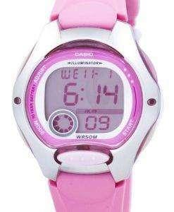 카시오 디지털 스포츠 조명 LW-200-4BVDF 여자의 시계