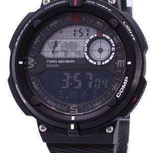 카시오 야외 SGW-600 H-1B 트윈 센서 디지털 석 영 남자 시계