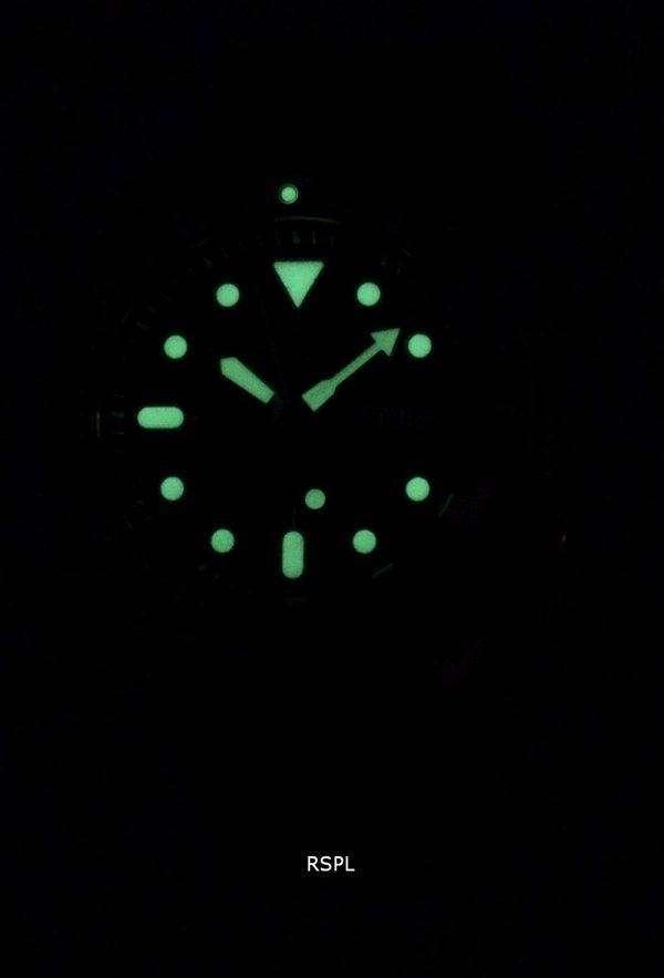 SKX007K1-LS14 세이 코 자동 다이 버의 남자 200m 블랙 가죽 스트랩 남자 시계