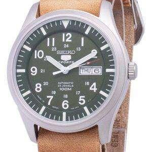 세이 코 5 스포츠 SNZG09J1 LS18 일본 갈색 가죽 스트랩 남자의 시계를 만든