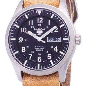 세이 코 5 스포츠 SNZG15J1 LS18 자동 일본 만든 갈색 가죽 스트랩 남자의 시계