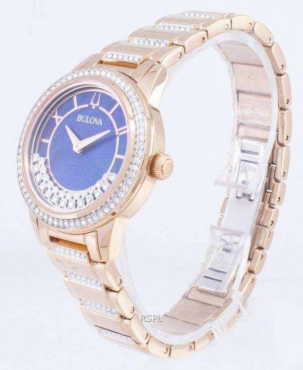 뻐꾸기 크리스탈 TurnStyle 98 L 247 석 영 다이아몬드 악센트 여자의 시계