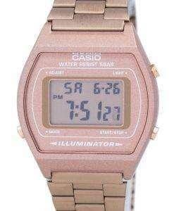 카시오 디지털 석 영 스테인리스 50 M 조명 기 B640WC-5ADF B640WC-5A 남자 시계