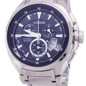 시민 Attesa 에코-드라이브 BY0020-59E 티타늄 아날로그 남자 시계