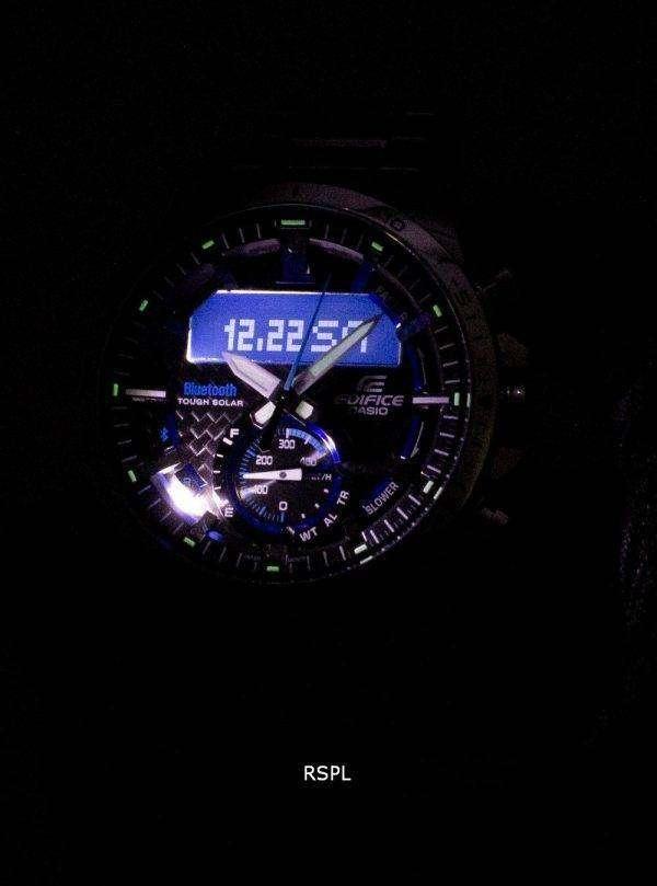 건반 건물 ECB-800 D-1A 힘든 태양 열 블루투스 조명 기 남자의 시계