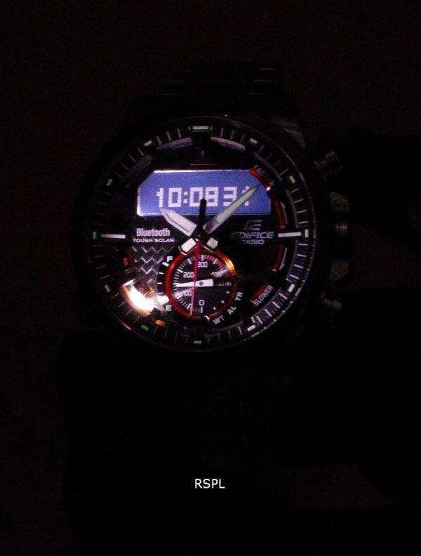 건반 건물 ECB-800DB-1A 힘든 태양 열 블루투스 남자의 시계