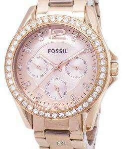 화석 라일리 다기능 크리스탈 로즈 골드 ES2811 여성 시계