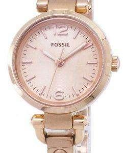화석 조지아 미니 로즈 톤 ES3268 여자의 시계