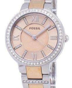 화석 버지니아 로즈 다이얼 크리스탈 2 톤 ES3405 여자의 시계