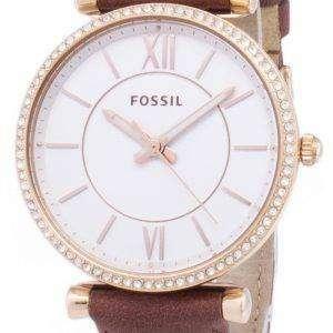 화석 Carlie ES4428 다이아몬드 석 영 아날로그 여자의 시계