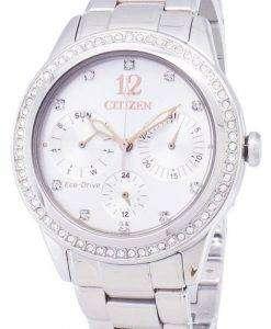시민 에코 드라이브 FD2010-58A 다이아몬드 악센트 아날로그 여자의 시계