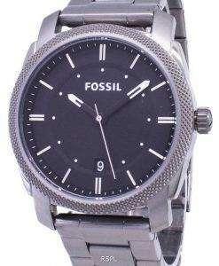 화석 기계 블랙 다이얼 연기 IP 스테인리스 FS4774 남자 시계