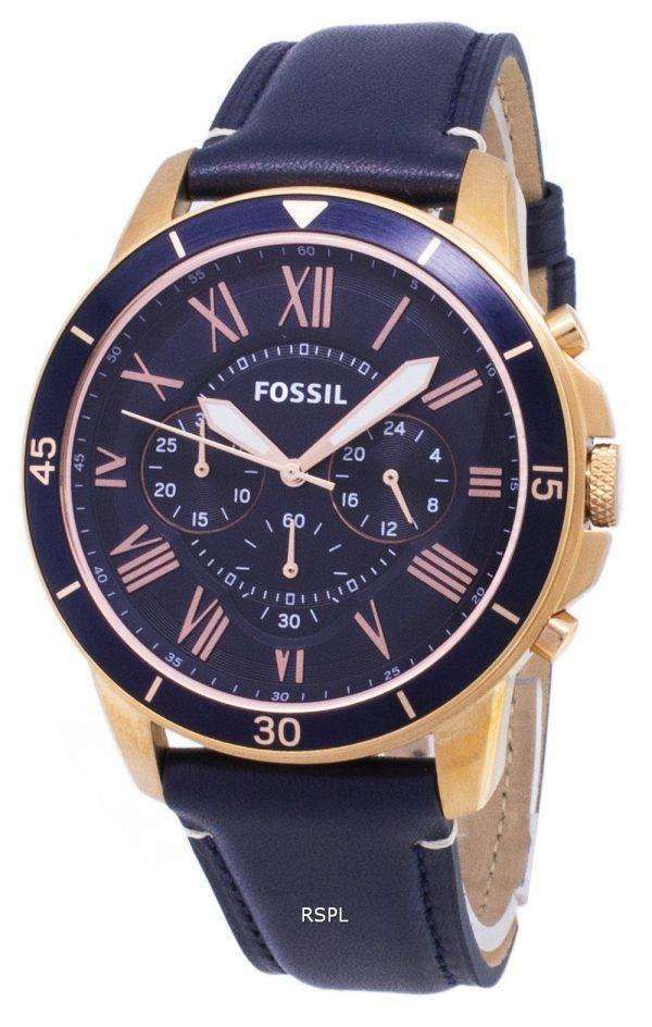 화석 그랜트 스포츠 크로 노 그래프 석 영 FS5237 남자의 시계