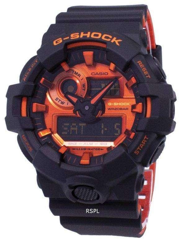 건반 g 조-충격 GA-700BR-1A GA700BR-1A 조명 석 영 아날로그 디지털 200 M 남자의 시계