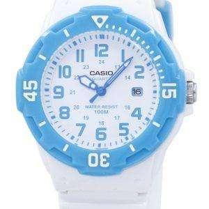 카시오 아날로그 화이트 다이얼 LRW-200 H-2BVDF LRW-200 H-2BV 여성 시계
