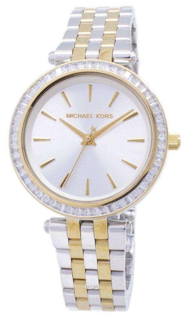 마이클 Kors 미니 Darci 2 톤 크리스탈 MK3405 여자의 시계