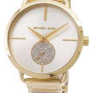 마이클 Kors 포 샤 다이아몬드 악센트 석 영 MK3639 여자의 시계
