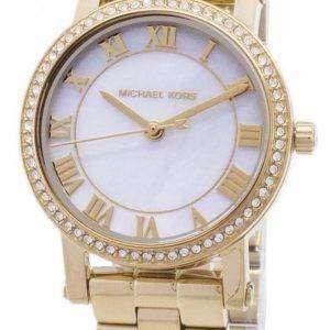 마이클 Kors 몸집이 작은 누리 석 영 다이아몬드 악센트 MK3682 여자의 시계