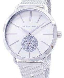 마이클 Kors 포시 아 석 영 다이아몬드 악센트 MK3843 여자의 시계