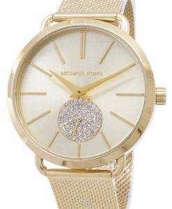 마이클 Kors 포시 아 석 영 다이아몬드 악센트 MK3844 여자의 시계