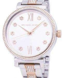 마이클 Kors 소피 MK3880 석 영 아날로그 여자의 시계