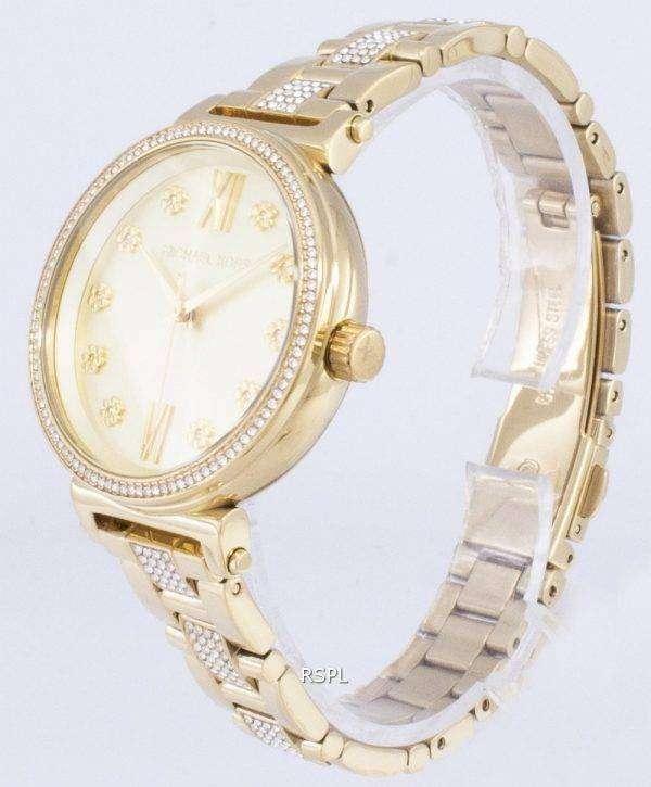 마이클 Kors 소피 MK3881 석 영 여자의 시계