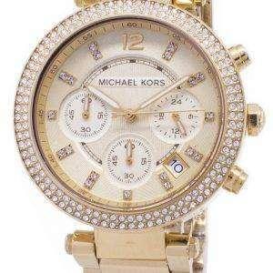 마이클 코어스 파커 Glitz 크로 노 그래프 크리스탈 MK5354 여자의 시계