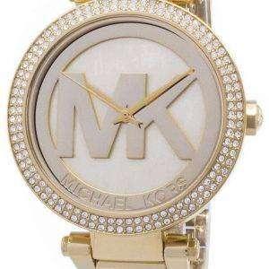 마이클 코어스 파커 크리스탈 MK 로고 MK5784 여자의 시계