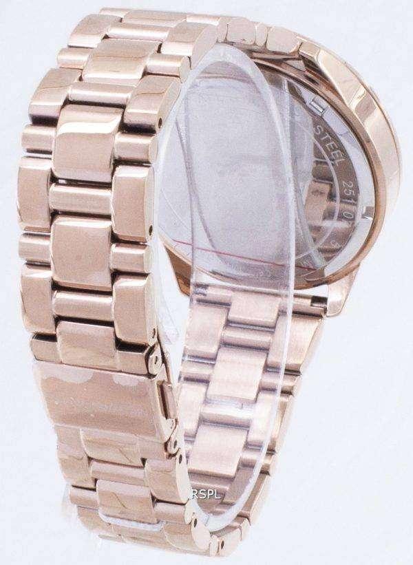 마이클 Kors 슬 레이 터 크로 노 그래프 석 영 MK6521 여자의 시계