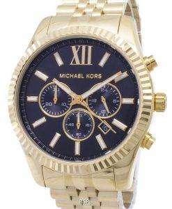 마이클 코어스 렉싱턴 크로노 그래프 블랙 골드 톤 MK8286 남성 시계 다이얼