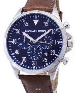 Michael Kors 게이지 블루 다이얼 MK8362 남자 크로 노 그래프 시계