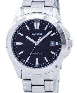 카시오 석 영 아날로그 블랙 다이얼 스테인레스 스틸 MTP-1215A-1A2DF MTP-1215A-1A2 남자 시계