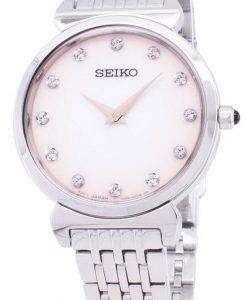세이 코 쿼 츠 SFQ803 SFQ803P1 SFQ803P 다이아몬드 악센트 여자의 시계