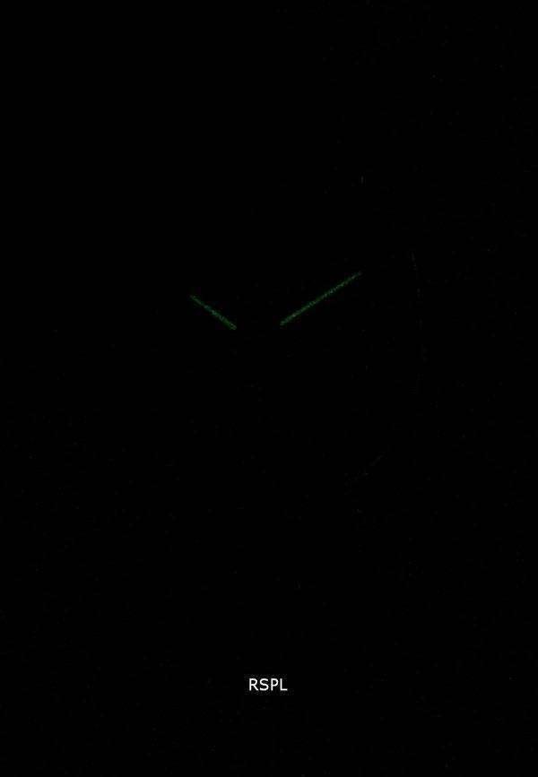 엠포리오 아르마니 클래식 블랙 다이얼 블랙 가죽 AR1692 남자의 시계