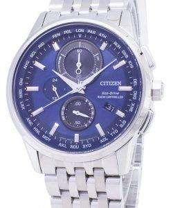 시민 에코 드라이브 AT8110-61 L 무선 제어 크로 노 그래프 남성 시계