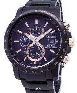 시민 에코 드라이브 AT8127-85F 크로 노 그래프 무선 제어 남자의 시계
