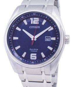시민 에코 드라이브 AW1240-57 M 티타늄 아날로그 남자의 시계