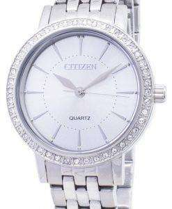 시민 석 영 EL3040-80A 아날로그 다이아몬드 악센트 여자의 시계