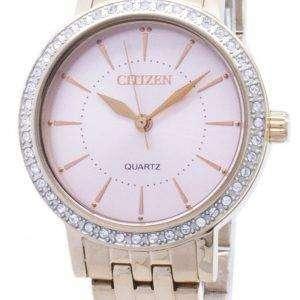 시민 석 영 EL3043-81 X 아날로그 다이아몬드 악센트 여자의 시계
