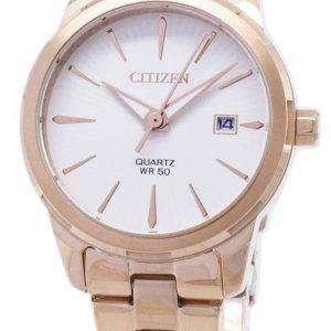 시민 석 영 EU6073-53A 아날로그 여자의 시계