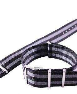 세이 코 22 m m 그레이 & SKX007, SKX009, SKX011, SRP497, SRP641에 대 한 나토 스트랩 블랙